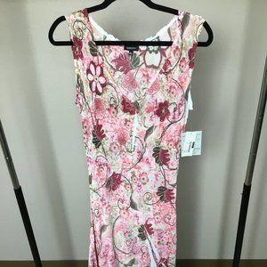 KOMAROV Floral Crinkle Sleeveless Dress XL